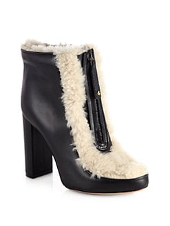 Chloe - Shearling Leather Ankle Boots