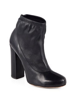 Chloe - Stretch Leather Ankle Boots