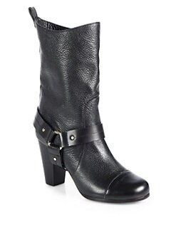 Chloe - Moto Leather Mid-Calf Boots
