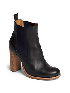 Chloe - Bernie Bicolor Leather Ankle Boots