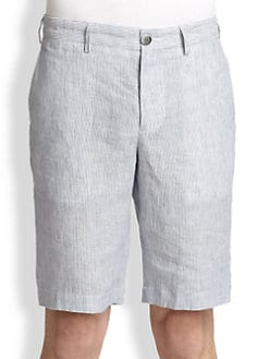 Vince - Seersucker Trouser Shorts