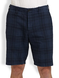 Vince - Plaid Trouser Shorts
