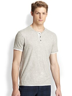 Vince - Double Layer Jersey Henley