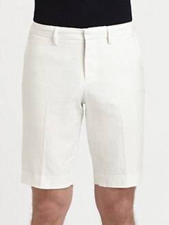 Vince - Cotton & Linen Trouser Shorts