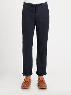 Vince - Linen Drawstring Pants