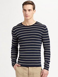 Vince - Striped Crewneck Shirt