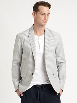 Vince - Striped Cotton Blazer