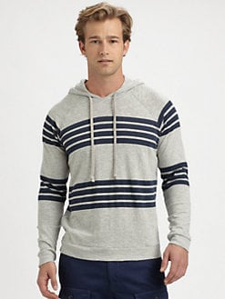 Vince - Hooded Striped Sweatshirt