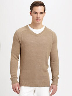 Vince - Linen V-Neck Sweater