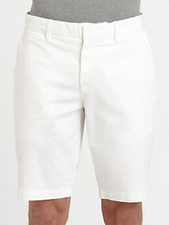 Vince - Cotton Twill Trouser Shorts