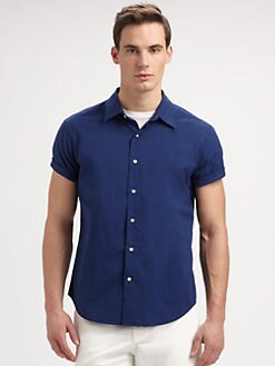 Vince - Solid Cotton Sportshirt