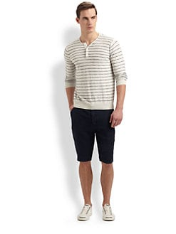 Vince - Striped Cotton Henley