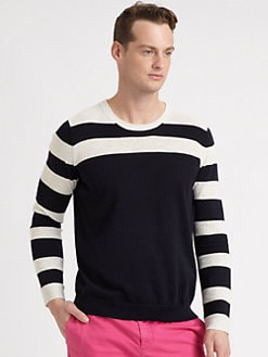 Vince - Heathered Linen Crewneck Sweater