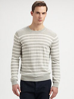 Vince - Striped Cotton Sweater