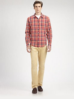 Vince - Plaid Cotton Sportshirt
