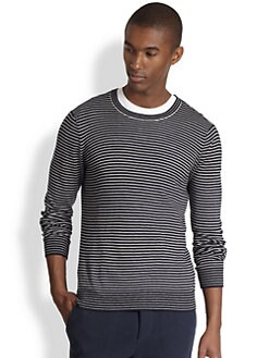 Vince - Striped Crewneck Sweater