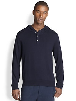 Vince - Hooded Henley Sweater