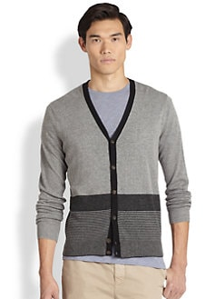 Vince - Colorblock V-Neck Cardigan