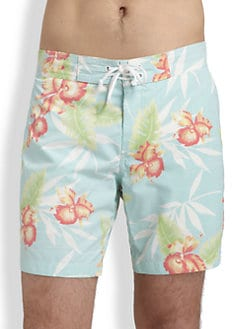 Vince - Printed Swim Trunks
