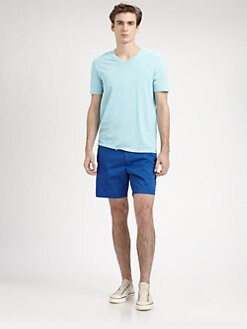 Vince - Cotton Jersey V-Neck Tee