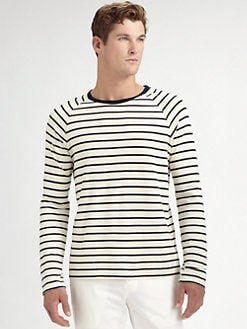 Vince - Striped Crewneck Tee