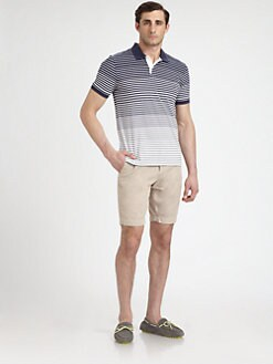Vince - Striped Cotton Polo