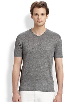 Vince - Linen V-Neck Tee