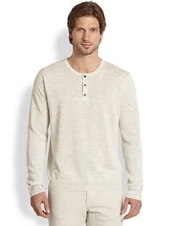 Vince - Stretch Linen Henley Shirt