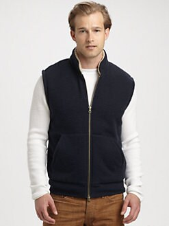 Vince - Sherpa Zip-Up Vest