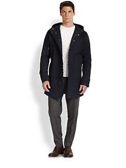 Vince - Shower-Proof Hooded Cotton Jacket