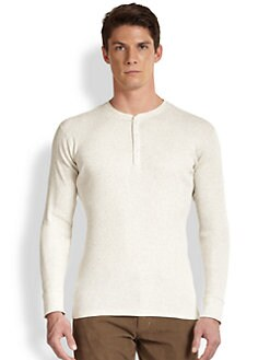 Vince - Ribbed Cotton Jersey Henley Top