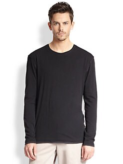 Vince - Long-Sleeved Cotton Jersey Tee