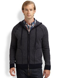 Vince - Cashmere Blend Zip-Up Hoodie