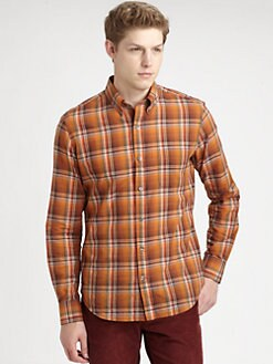 Vince - Bright Plaid Cotton Sportshirt