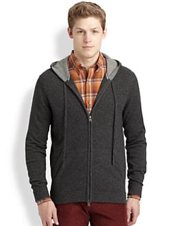 Vince - Cashmere Zip-Up Hoodie