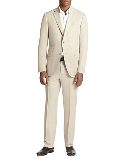 Samuelsohn Slub Silk  Linen Suit $576.97 AT vintagedancer.com