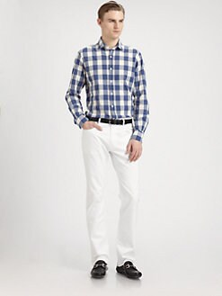 SLOWEAR - Glanshirt Checked Sportshirt