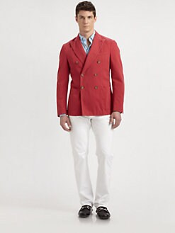 SLOWEAR - Montedoro Double-Breasted Twill Blazer