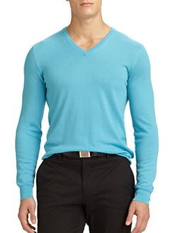 Ralph Lauren Black Label - Cashmere V-Neck Sweater