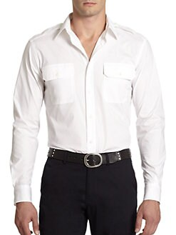 Ralph Lauren Black Label - Rover Stretch Cotton Military Shirt