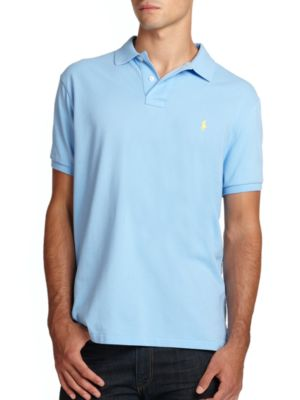 POLO RALPH LAUREN Custom Fit Basic Mesh Knit Polo