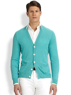 Ralph Lauren Black Label - Ribbed V-Neck Cardigan