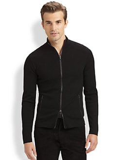 Ralph Lauren Black Label - Full-Zip Merino Wool Sweater