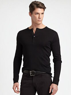 Ralph Lauren Black Label - Cotton Ribbed Henley
