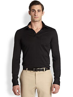 Ralph Lauren Black Label - Solid Jersey Polo Sportshirt