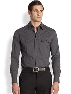 Ralph Lauren Black Label - Solid Cotton Sportshirt