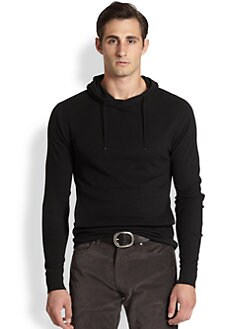 Ralph Lauren Black Label - Solid Waffle-Knit Hoodie