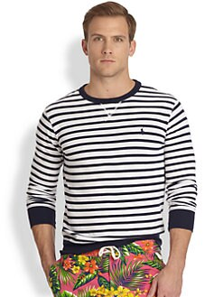 Polo Ralph Lauren - Striped Atlantic Terry Crewneck Pullover