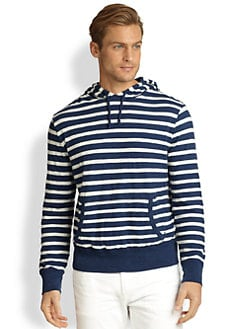 Polo Ralph Lauren - Double-Layered Striped Slub Jersey Hoodie