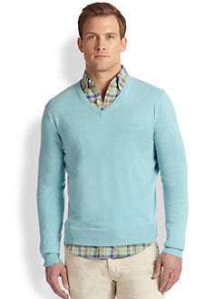 Polo Ralph Lauren - Cotton-Cashmere V-Neck Sweater
